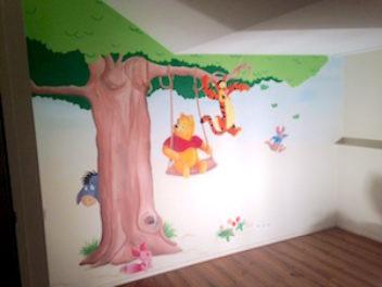 Zo kleurrijk, Winnie de Poeh op de babykamer