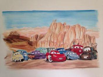 Een stoere Cars schildering