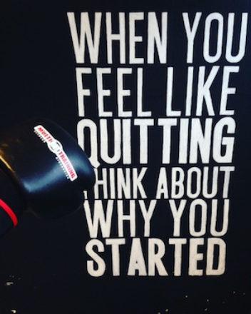 Een krachtige quote op de muur!